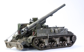 Picture toy, model, 155 mm, M12, self-propelled gun