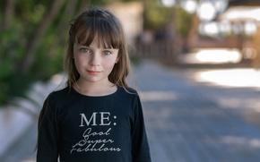 Picture portrait, girl, freckles, Hors-champ, Manureva