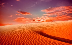 Picture sand, the sky, clouds, landscape, nature, desert