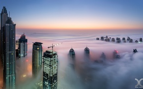Picture the city, fog, home, Dubai, UAE