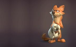Picture dog, Best friends, art. foxes', Manon Skowron