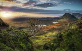 Picture dawn, morning, Scotland, Scotland, outdoor, Isle of Skye