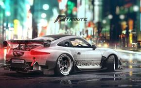 Picture Auto, Figure, White, 911, Porsche, Machine, Car, Car, Art, Art, Porsche 911, Rendering, Tribute, Yasid …