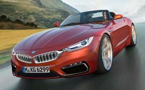 Wallpaper mountains, speed, road, BMW