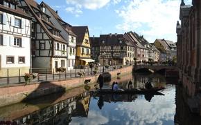 Picture France, Home, Channel, Building, Bridge, France, The bridge, Colmar, Canal, Colmar