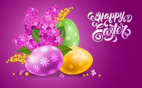 Picture eggs, Easter, lilac