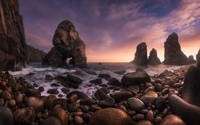 Picture stones, rocks, surf