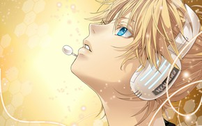 Picture anime, headphones, art, guy, Vocaloid, Vocaloid
