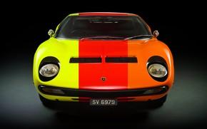 Picture Color, Auto, Lamborghini, Machine, Classic, 1971, Lights, Car, Supercar, Lamborghini Miura, P400, Lamborghini Miura P400, …