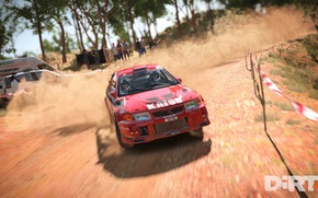 Picture car, game, race, speed, vegetation, Dirt 4