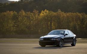 Wallpaper BMW, Black, Autumn, E39
