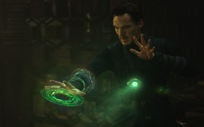 Picture Green, Marvel Comics, Benedict Cumberbatch, Superhero, Doctor Strange, 2016, Dr. Stephen Strange, Eye of Agamotto, ...
