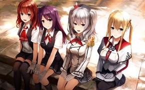 Picture kawaii, girl, anime, pretty, manga, bishojo, seifuku, student, japonese