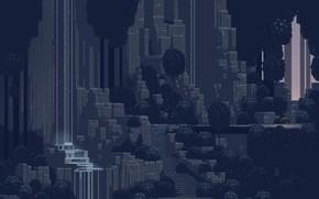 Picture The city, The game, Art, Pixels, 8bit, 16bit, Sword & Sworcery, Superbrothers: Sword & Sworcery, …