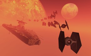 Picture space, ship, planet, T-Flotilla, starwars cruiser x action