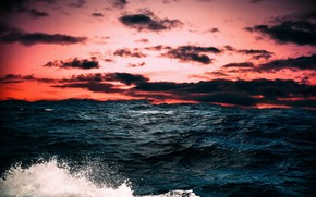 Picture sea, the sky, sunset