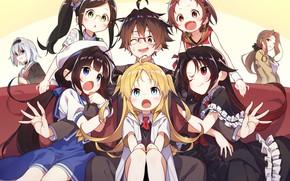 Picture Boy, Anime, Girls, Art