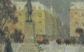 Picture picture, the urban landscape, Henry Le Sedane Products, Henri Le Sidane, Hoche Square. Versailles