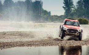 Picture Water, Auto, Mini, Sport, Machine, Speed, Gravel, Car, Rally, SUV, Rally, X-Raid Team, MINI Cooper, …