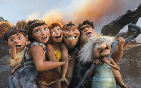 Picture dress, animated film, The Croods, animated movie, family, caveman, The Croods 2