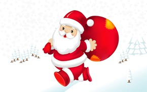 Picture holiday, vector, art, Santa Claus, children's, winter. New year