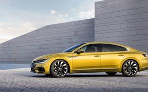 Wallpaper Yellow, Yellow, Volkswagen, VolksWagen, Arteon, Arteon, R line