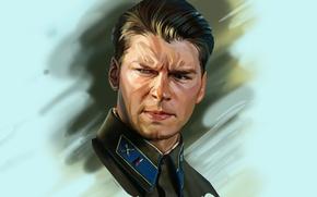 Picture portrait, art, actor, Daniil Aleksandrovich Strakhov, Daniil Strakhov