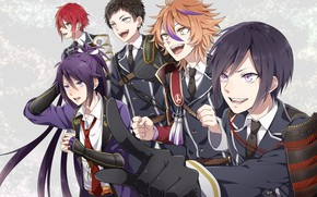 Picture anime, art, guys, Touken ranbu, Dance Of Swords