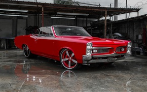 Picture car, red, coupe, 1967, Pontiac Gto