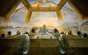 Wallpaper surrealism, picture, Salvador Dali, Salvador Dali, The Last Supper