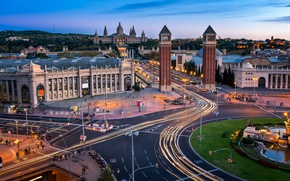 Wallpaper road, Spain, tower, architecture, Barcelona