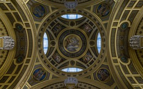 Picture the ceiling, the dome, Hungary, Budapest, bath section