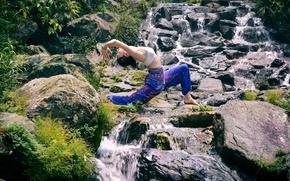 Picture nature, pose, gymnastics, yoga, Asian
