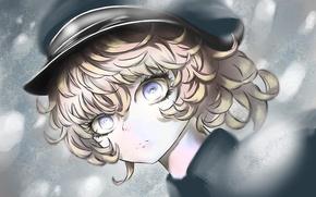 Picture girl, gun, soldier, military, weapon, war, anime, blue eyes, face, blonde, asian, manga, oriental, asiatic, …