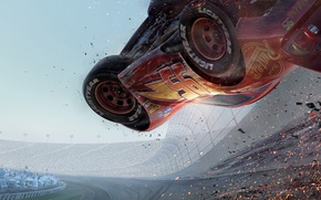 Picture cartoon, cars, animation, track, cars, stadium, animation, 8k, cars 3, cars 3