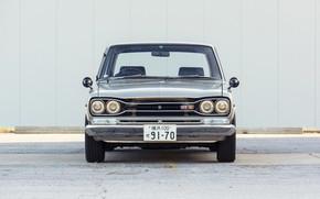 Picture Auto, Machine, Grey, Nissan, Nissan, Lights, Car, 2000, Skyline, Nissan Skyline, 2000GT, 100, Japanese, 2000GT-R, …