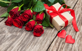 Wallpaper roses, red, love, buds, heart, flowers, romantic, gift, roses, red roses, valentine`s day
