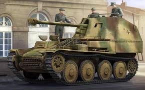 Picture figure, the Wehrmacht, self-propelled artillery, Marder III, German tank destroyer