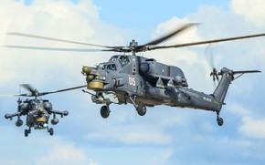 Wallpaper The Russian air force, Army, Aviation, Attack helicopter, Mi28n, Ми28, Blades, BBC, Helicopter, Mi-28, Two, ...