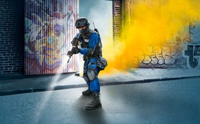 Wallpaper M4, USA, tactical vest, painting, SWAT, Officer
