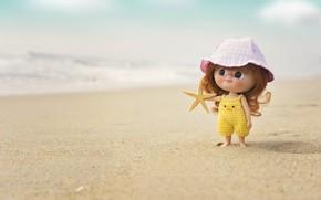Picture sea, beach, doll, Panama