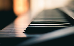 Wallpaper music, piano, macro