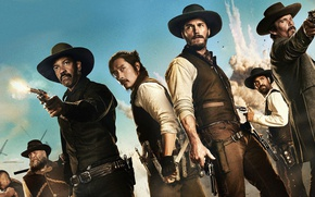 Picture Denzel Washington, Denzel Washington, Chris Pratt, Chris Pratt, The Magnificent Seven, The Magnificent Seven