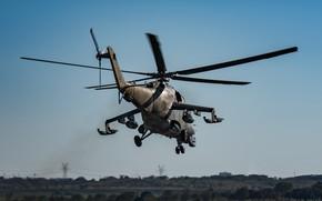 Picture flight, blades, Mi-24, Helicopter