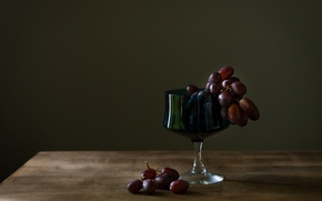 Picture berries, glass, grapes