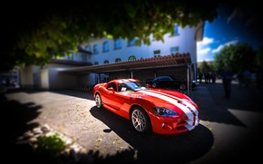 Wallpaper Viper, red, SRT-10, Dodge Viper SRT-10, Dodge