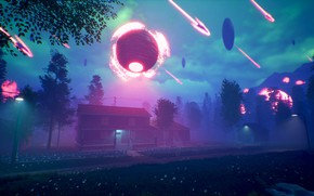 Picture road, ball, home, Environment Concept