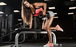 Wallpaper female, fitness, gym, workout