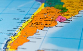 Picture Argentina, map, Chile, South America
