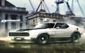 Picture Mustang, Ford, Auto, White, Machine, Ford Mustang, Art, Rendering, Mach 1, Yasid Design, Yasid Oozeear, ...